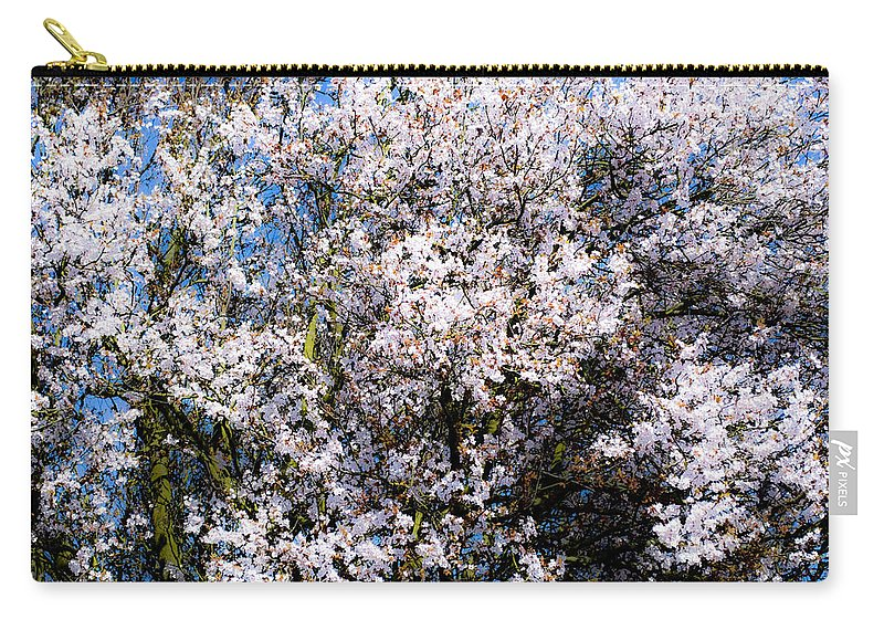 Flower Carry-all Pouch featuring the photograph Cherry Blossom Tree by Svetlana Sewell