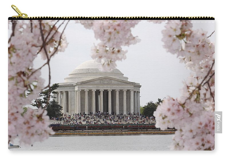 Cherry Carry-all Pouch featuring the photograph Cherry Blossoms by Tina Meador