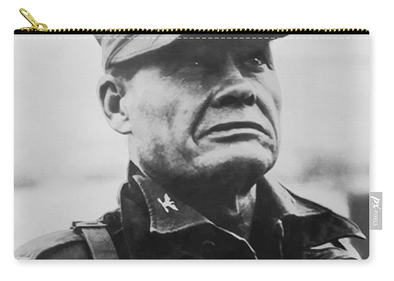 Chesty Puller Carry-all Pouch featuring the painting Chesty Puller by War Is Hell Store