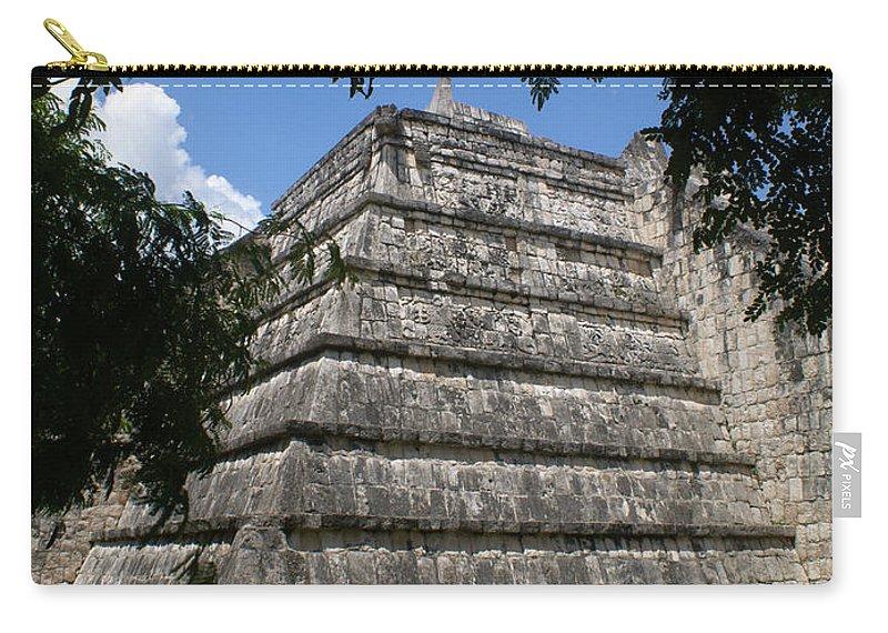 Chichen Itza Carry-all Pouch featuring the photograph Chichen Itza 2 by Douglas Barnett