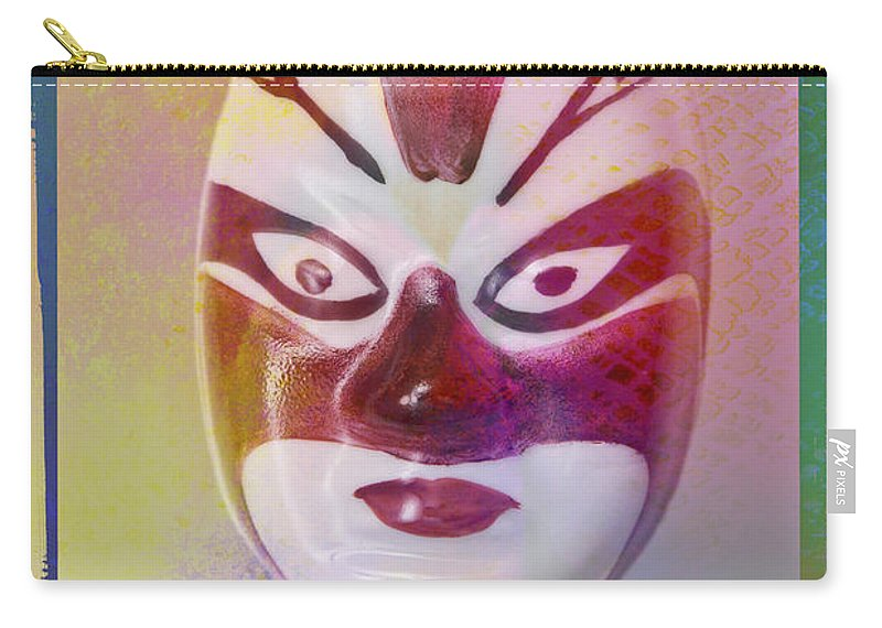 Abstract Carry-all Pouch featuring the photograph Chinese Porcelain Mask by Heiko Koehrer-Wagner