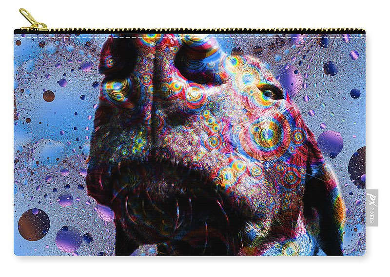 Dog Carry-all Pouch featuring the painting Chocolate Lab Nose by Roger Wedegis