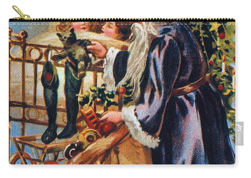 19th Century Carry-all Pouch featuring the photograph Christmas Card by Granger