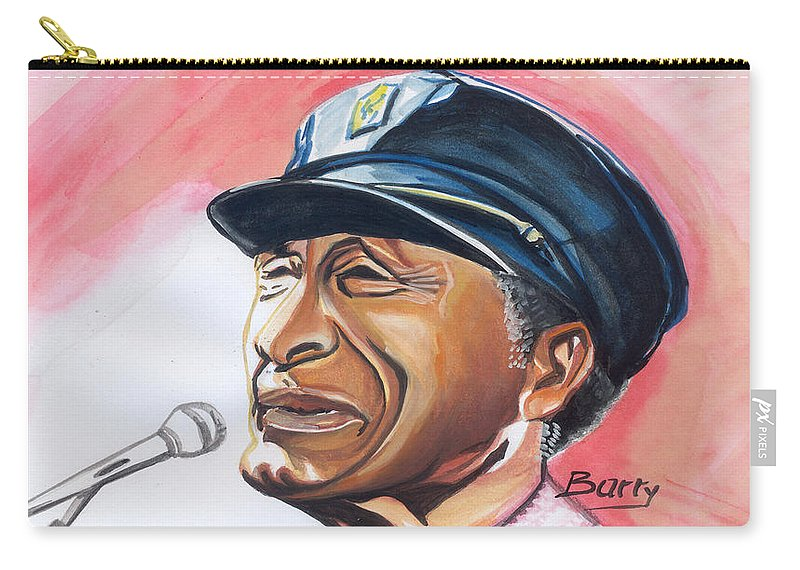 Music Carry-all Pouch featuring the painting Chuck Berry 83 by Emmanuel Baliyanga