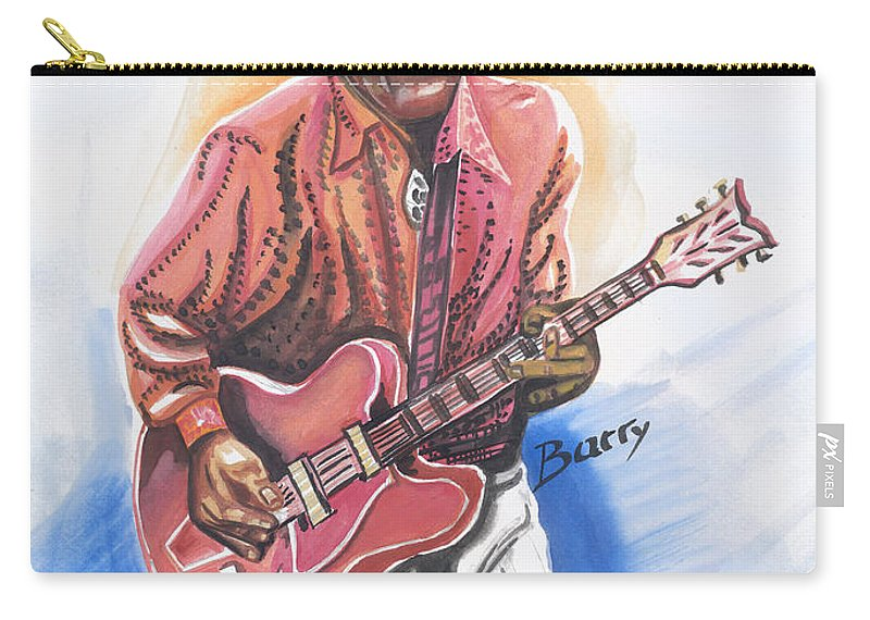 Music Carry-all Pouch featuring the painting Chuck Berry by Emmanuel Baliyanga