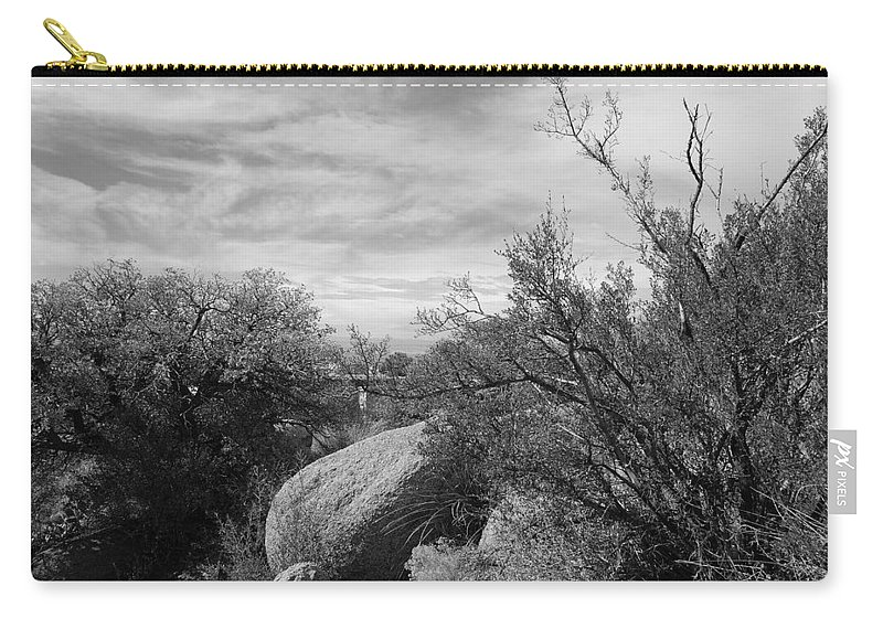 Black And White Carry-all Pouch featuring the photograph Cibola National Forest by Rob Hans