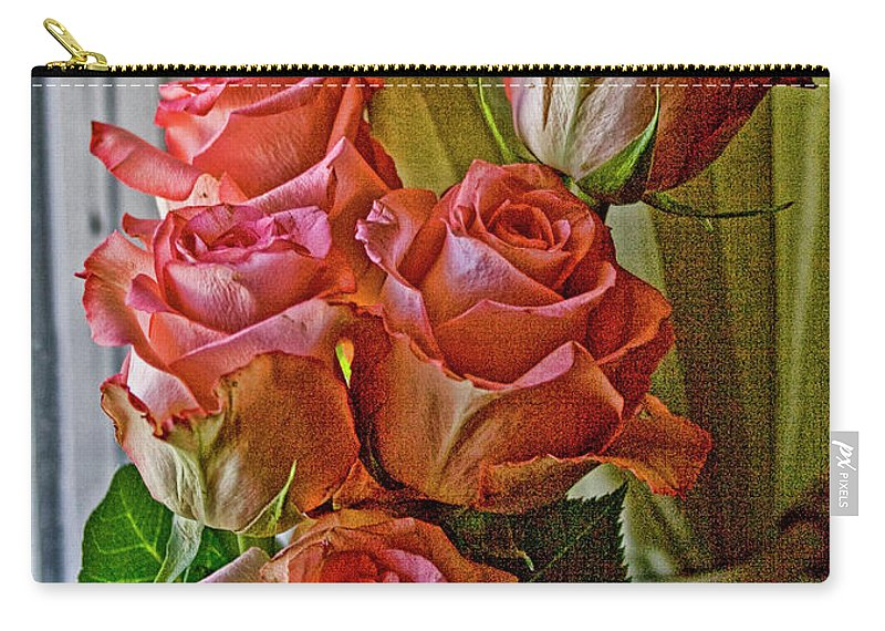 Roses Carry-all Pouch featuring the photograph Cindy's Roses by Bonnie Willis
