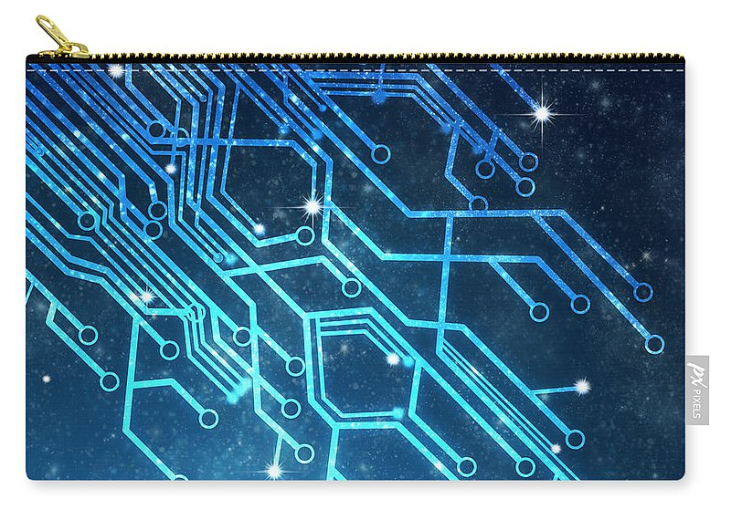 Abstract Carry-all Pouch featuring the photograph Circuit Board Technology by Setsiri Silapasuwanchai