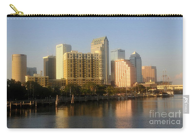 Tampa Florida Carry-all Pouch featuring the photograph City By The Bay by David Lee Thompson