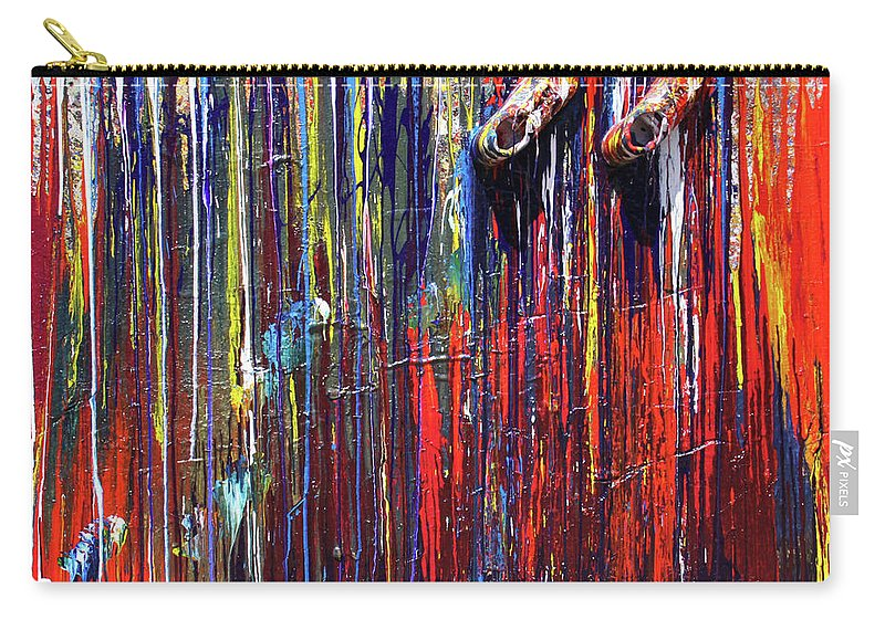 Fusionart Carry-all Pouch featuring the painting Climbing The Wall by Ralph White