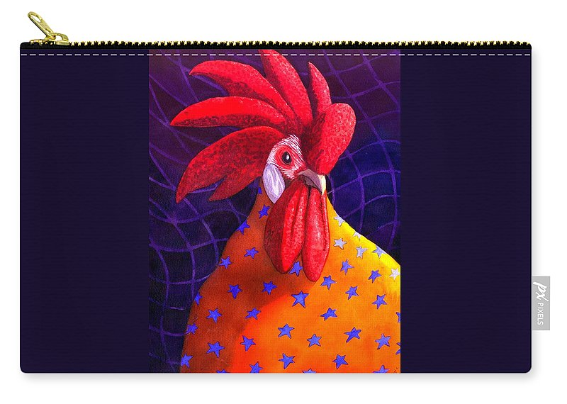 Rooster Carry-all Pouch featuring the painting Cock A Doodle Dude by Catherine G McElroy
