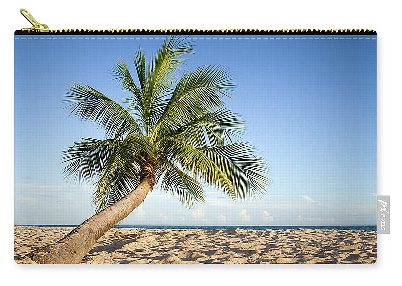 Barbados Carry-all Pouch featuring the photograph Coconut Tree by Ferry Zievinger