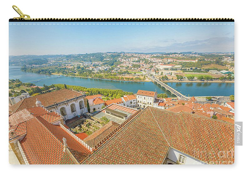 Coimbra Carry-all Pouch featuring the photograph Coimbra Aerial View by Benny Marty