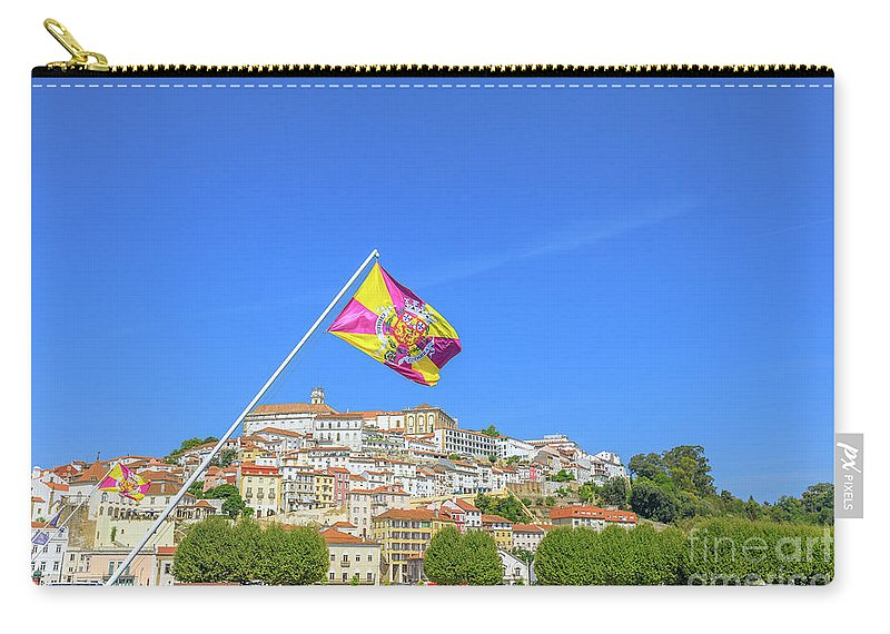 Coimbra Carry-all Pouch featuring the photograph Coimbra Skyline Portugal by Benny Marty