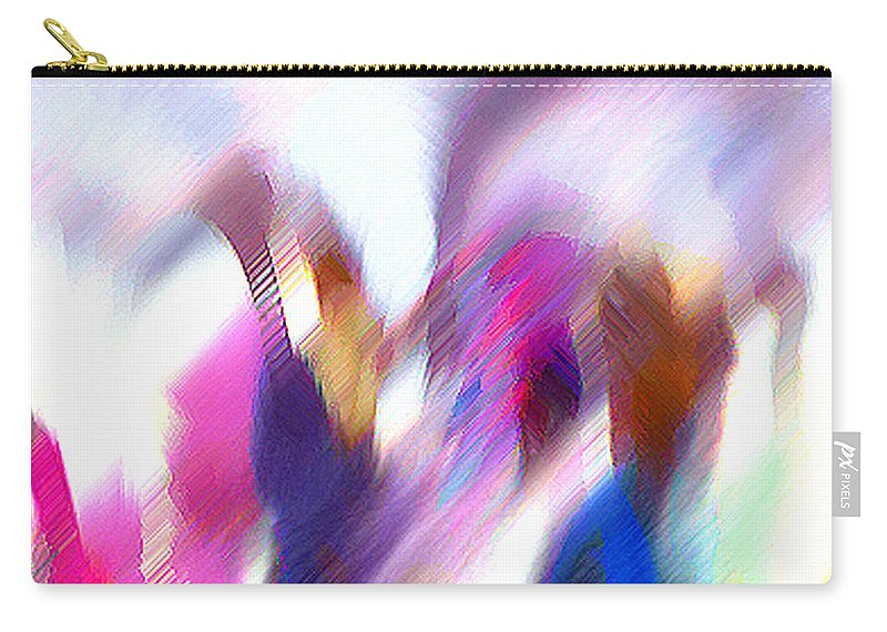 Digital Media Carry-all Pouch featuring the painting Color Dance by Anil Nene
