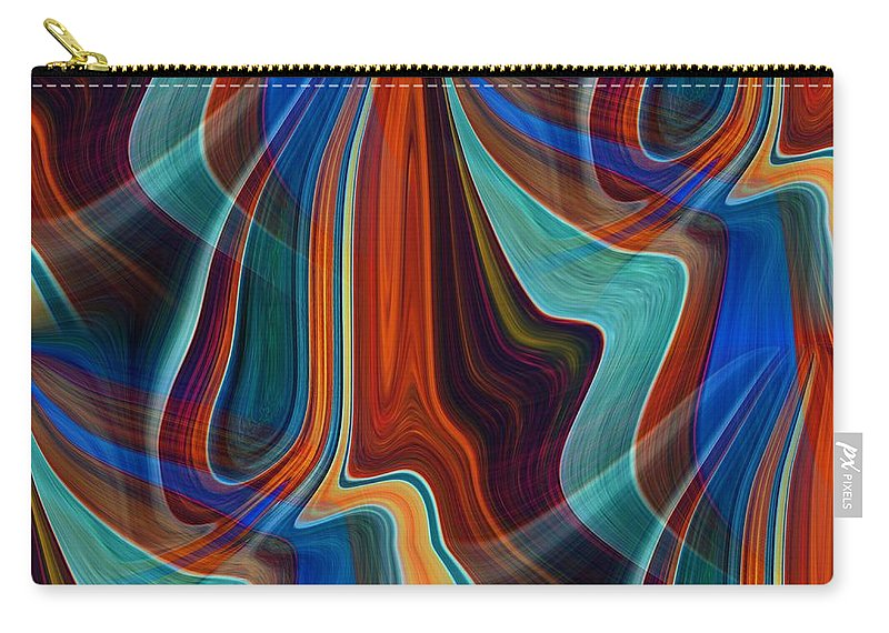 Colors Carry-all Pouch featuring the digital art Color Me Abstract by Tim Allen