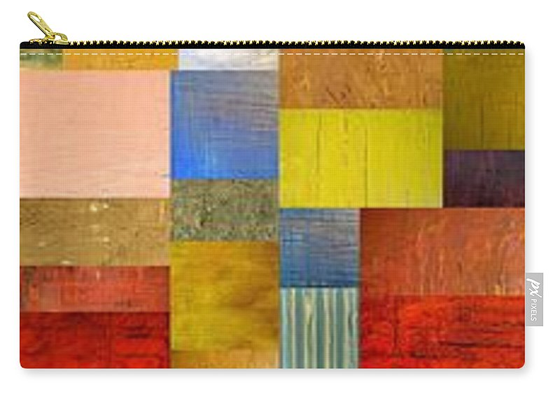 Skinny Carry-all Pouch featuring the painting Color Panels with Green Grass by Michelle Calkins