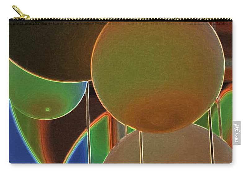 Colored Bubbles Carry-all Pouch featuring the photograph Colored Bubbles by Robert Meanor