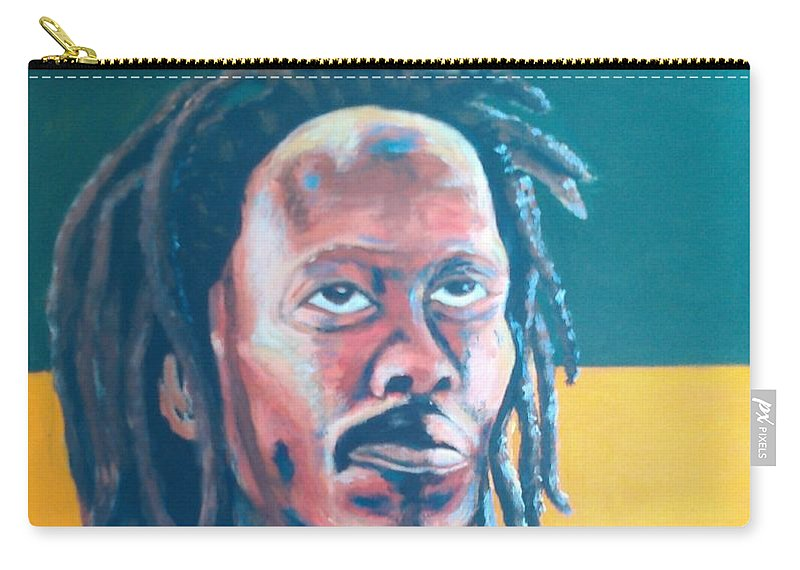 Rasta Portrait Carry-all Pouch featuring the painting ColorPS by Andrew Johnson