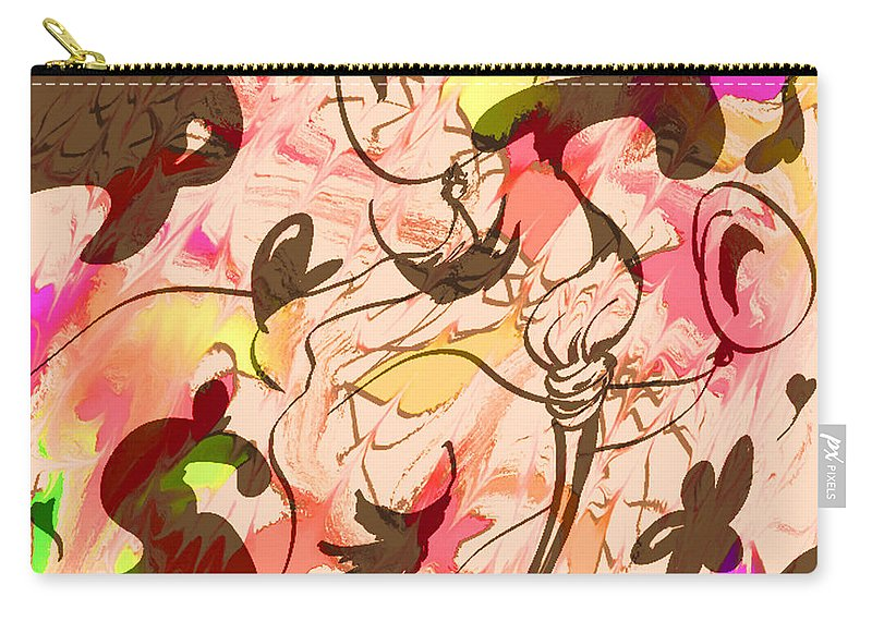Abstract Carry-all Pouch featuring the digital art Colors In The Wind by Rachel Christine Nowicki