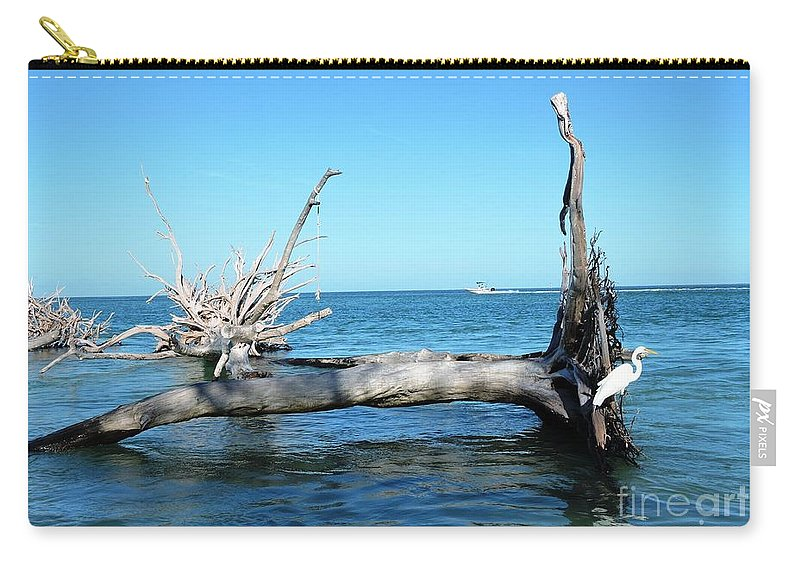 Blue Carry-all Pouch featuring the photograph Concentration by Beth Williams