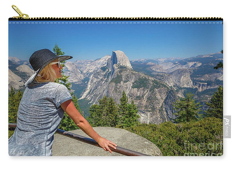 Yosemite Carry-all Pouch featuring the photograph Contemplating Glacier Point by Benny Marty