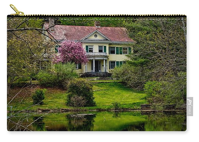Coolfront Manor Carry-all Pouch featuring the photograph Coolfront Manor House by Mountain Dreams
