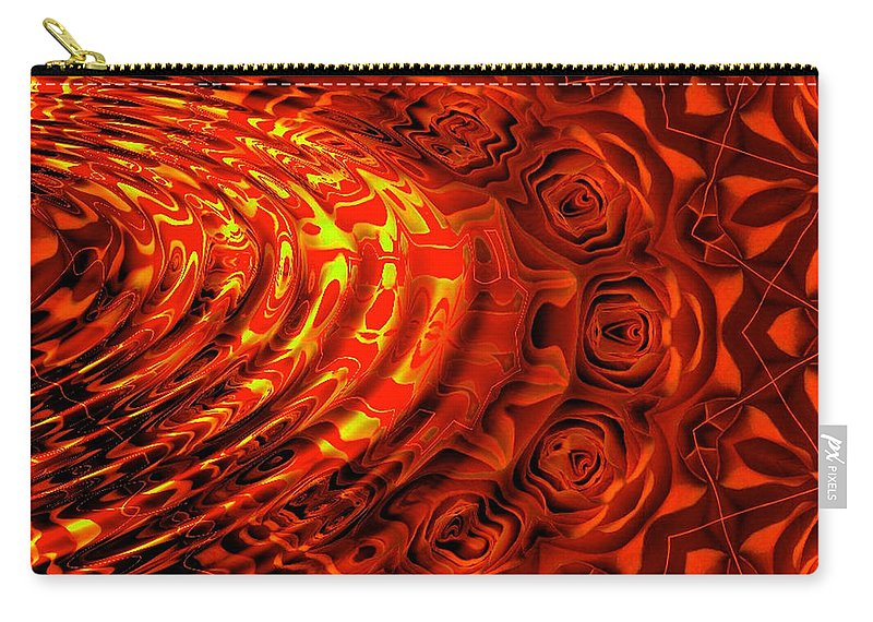 Wave Carry-all Pouch featuring the digital art Copper Rose by Robert Orinski