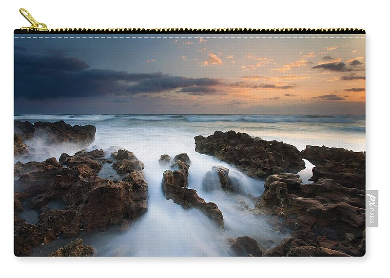 Coral Cove Carry-all Pouch featuring the photograph Coral Cove Dawn by Mike Dawson