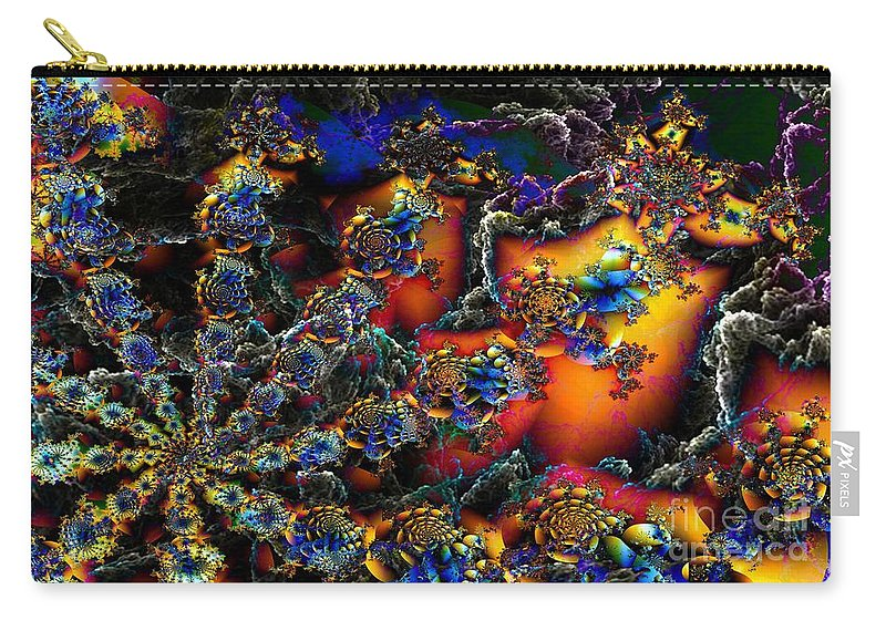 Digital Carry-all Pouch featuring the digital art Coral Reef by Ron Bissett
