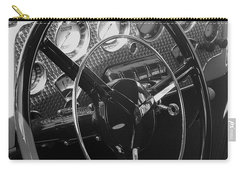 Cord Carry-all Pouch featuring the photograph Cord Phaeton Dashboard by Neil Zimmerman