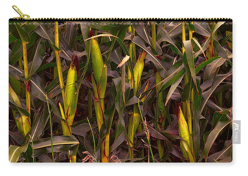 Corn Carry-all Pouch featuring the photograph Corny by Carolyn Fletcher