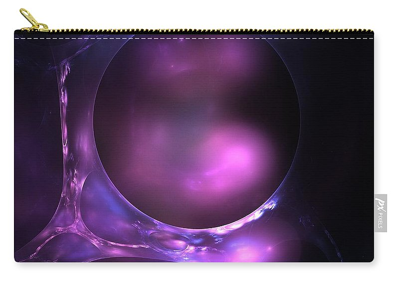 Bubble Carry-all Pouch featuring the painting Cosmic Plasma by Steve K