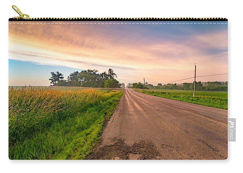 Country Carry-all Pouch featuring the photograph Country Road by Amel Dizdarevic