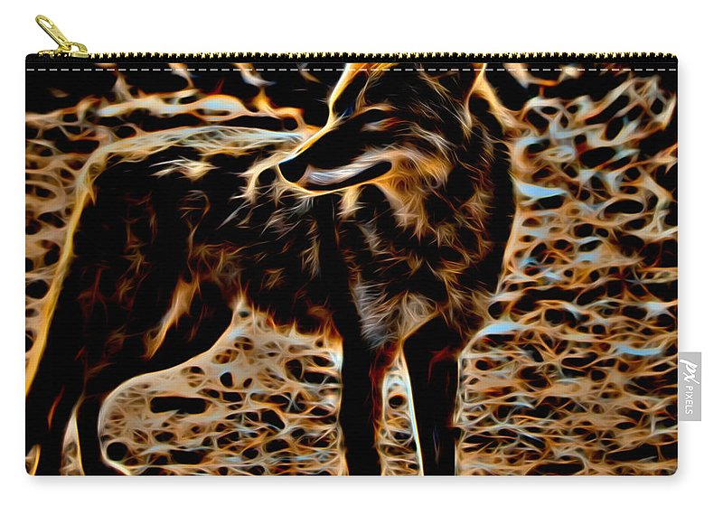 Coyote Carry-all Pouch featuring the photograph Coyote by David Pine
