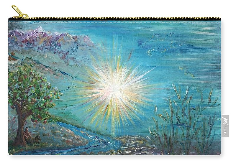 Creation Carry-all Pouch featuring the painting Creation by Nadine Rippelmeyer