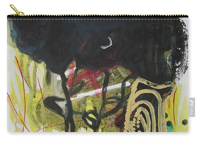 Abstract Paintings Carry-all Pouch featuring the painting Crescent2 by Seon-Jeong Kim