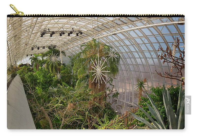 Architecture Carry-all Pouch featuring the photograph Crystal Bridge by Ricky Barnard