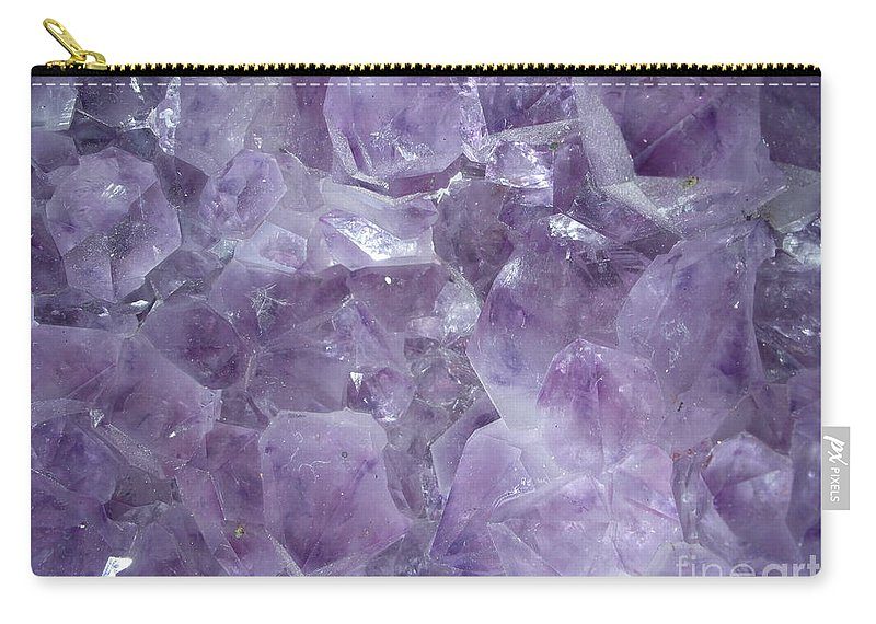 Amethyst Carry-all Pouch featuring the photograph Crystal Cave by Maria Bonnier-Perez