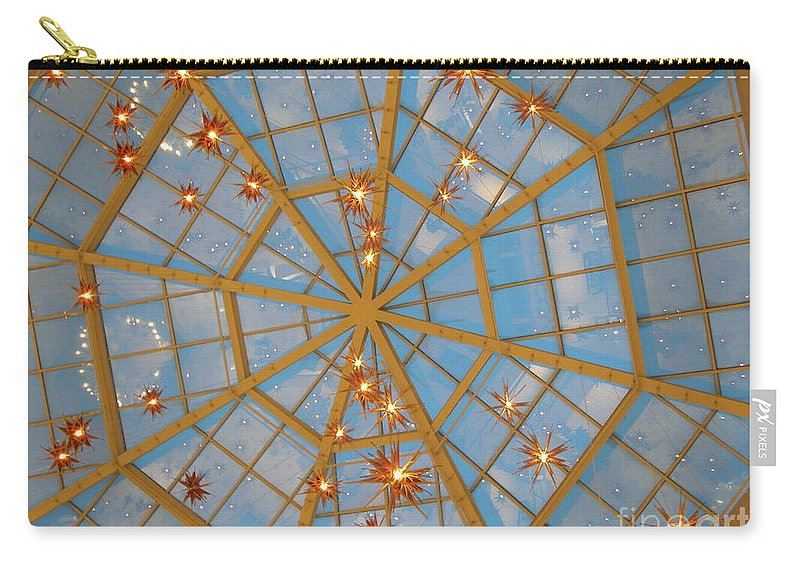 Glass Carry-all Pouch featuring the photograph Crystal Web by Maria Bonnier-Perez