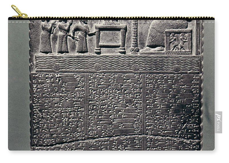 800 B.c. Carry-all Pouch featuring the photograph Cuneiform by Granger