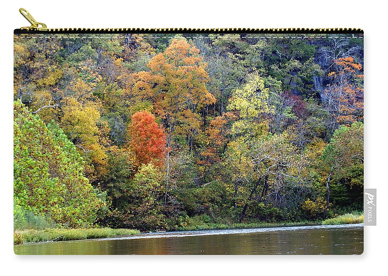 Rivers Carry-all Pouch featuring the photograph Current River Fall by Marty Koch