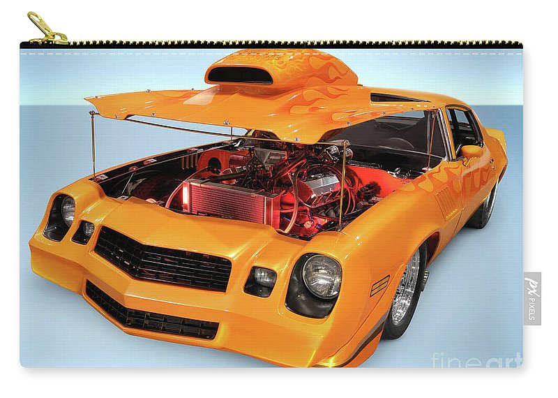 Car Carry-all Pouch featuring the photograph Custom Muscle Car by Maxim Images Prints
