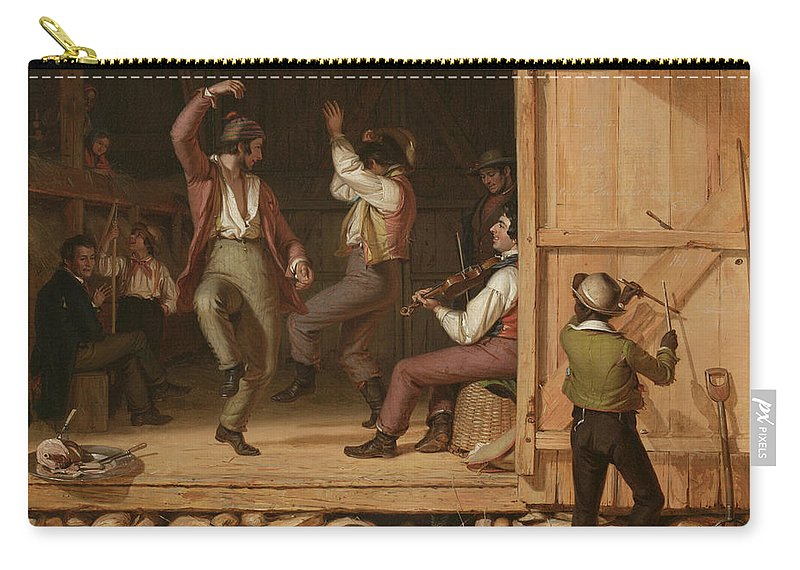 Dance Of The Haymakers (music Is Contagious) By William Sydney Mount Carry-all Pouch featuring the painting Dance Of The Haymakers by William Sydney Mount