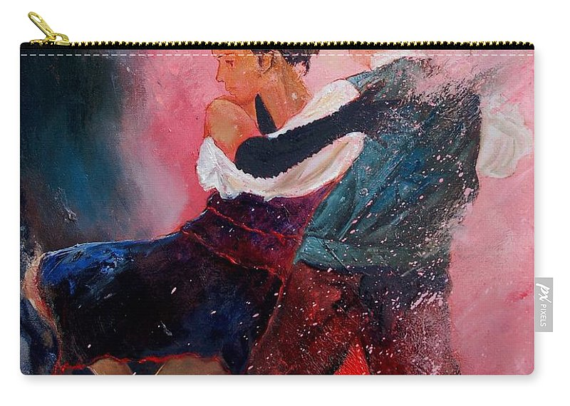 Music Carry-all Pouch featuring the painting Dancing Tango by Pol Ledent