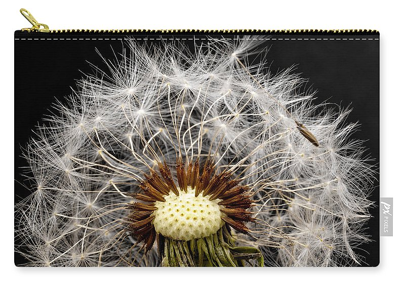 Donald Erickson Carry-all Pouch featuring the photograph Dandelion Seed by Donald Erickson
