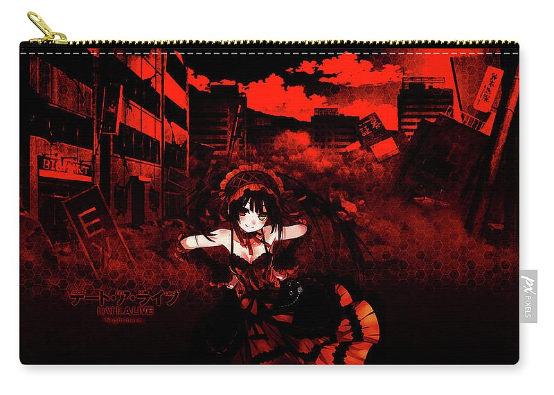 Date A Live Carry-all Pouch featuring the digital art Date A Live by Maye Loeser