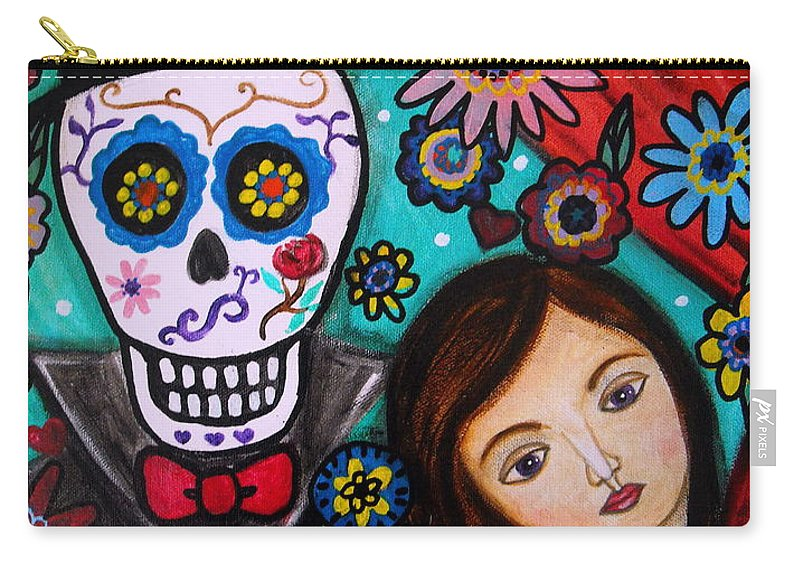 Mexican Carry-all Pouch featuring the painting Day Of The Dead by Pristine Cartera Turkus