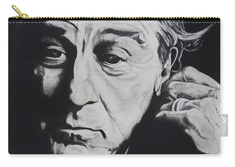 Robert De Niro Carry-all Pouch featuring the drawing De Niro by Charles Rogers