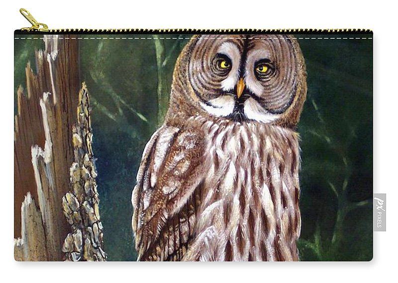 Wildlife Carry-all Pouch featuring the painting Deep In The Woods by Frank Wilson